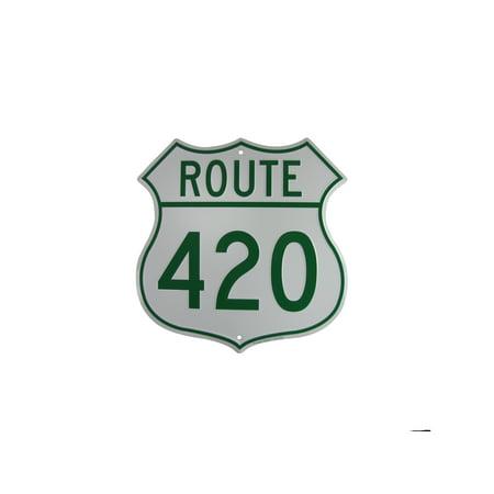 US HIGHway 420 Funny Metal Weed Sign Marijuana Humor Man Cave Bar Pub Wall Decor
