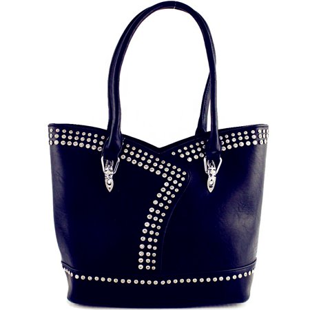 Premium Rhinestone Studded Concealed Carry Fashion Bling Tote Bag / Multi Color