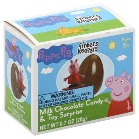 Galerie Peppa Pig Finders Keepers Milk Chocolate Candy & Toy Surprise, 0.7 oz - Walmart.com