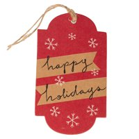 JAM Holiday Gift Tags, 16/Pack, Christmas Happy Holidays, Medium, 4 1/4 x 2 3/8