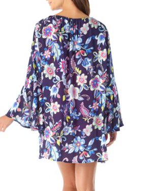 Anne Cole Signature Womens Holiday Paisley Flounce Cover-Up Style-20MC50964