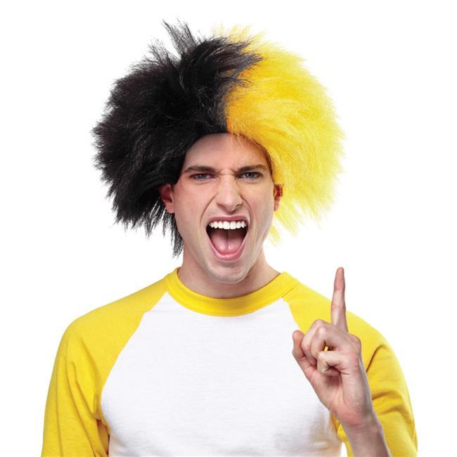 Morris Costumes MR179587 Sports Fun Black & Gold Wig Costume - image 1 of 1