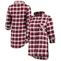 Texas A&M Aggies Concepts Sport Women's Piedmont Flannel Long Sleeve Button-Up Shirt - Maroon/Black