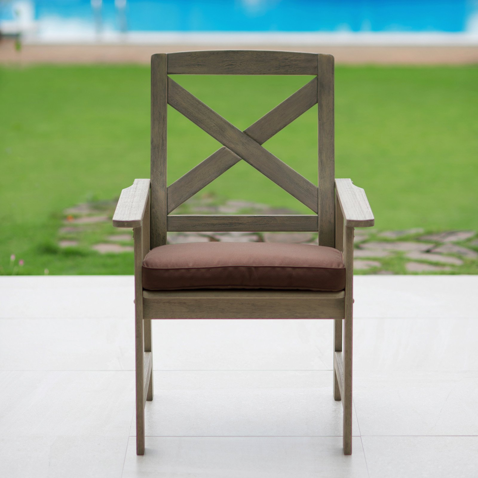 Cambridge Casual West Lake Dining Patio Chair with Cushion - Set of 2