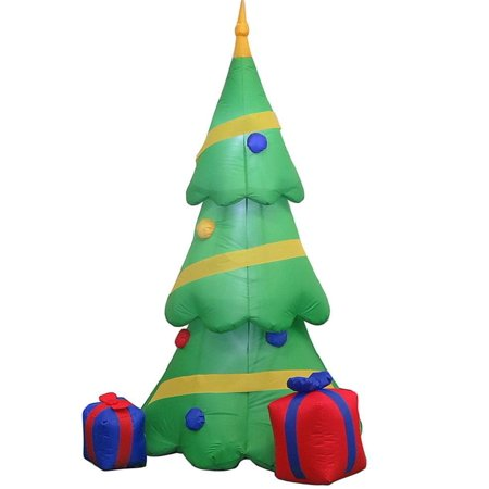 Home Accents Holiday 6.5ft LED Inflatable Airblown LED Christmas Tree with Gift Boxes