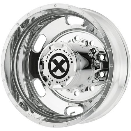 "ATX AO402 Indy Rear 24.5x8.25 10x285.75 Polished Wheel Rim 24.5"" Inch"