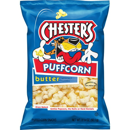 Chester's Puffcorn Butter Flavored Popcorn, 3.25 Oz.