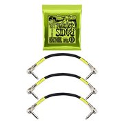 Ernie Ball Regular Slinky w/Black Pancake Patch Cable 3-Pack Bundle (BE0003)