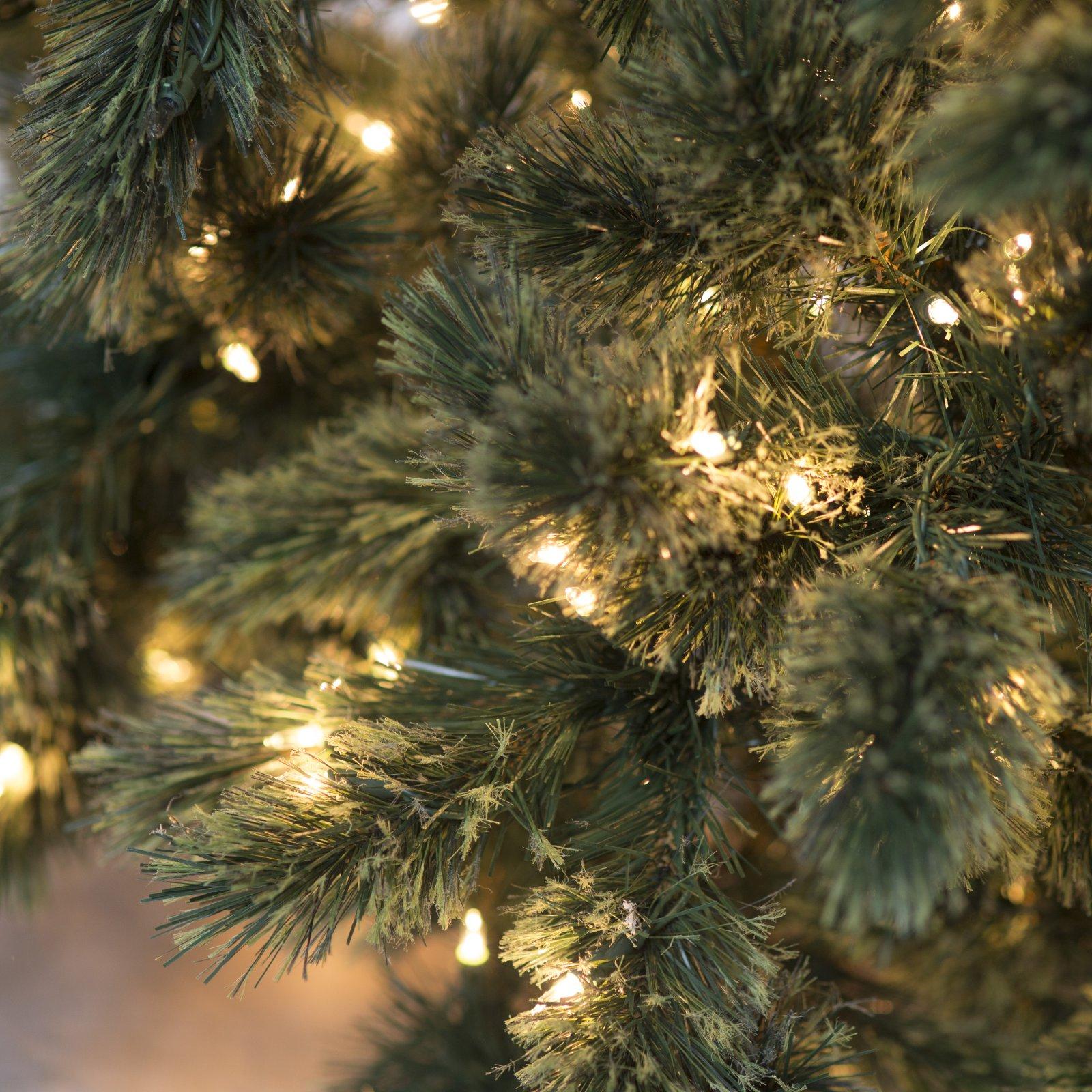 Christmas Tree Needles: 7-ft. Pre-Lit Christmas Tree Hard Needle Deluxe Cashmere