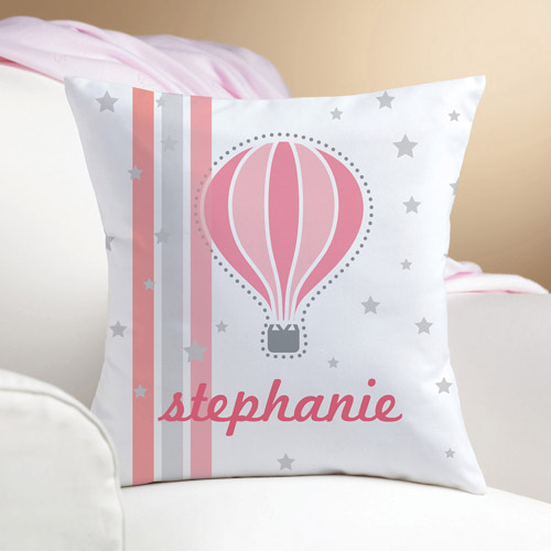 Personalized Hot Air Balloon Pillow