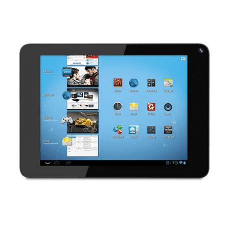 Coby Kyros 8-Inch Android 4.0 4 GB Internet Tablet 4:3 Capacitive Multi-Touchscreen Black MID8048-4 - Refurbished
