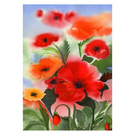 Toland Home Garden Watercolor Poppies