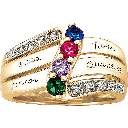 Personalized keepsake grandma 39 s blessing ring for Walmart jewelry mothers rings