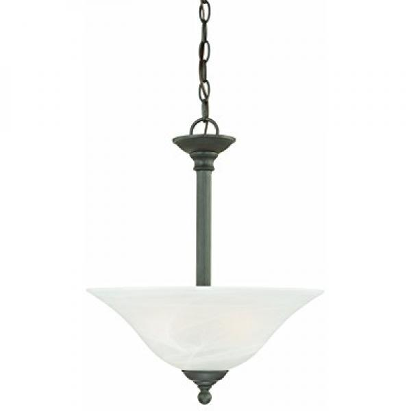 Thomas Lighting SL826663 Riva Collection 3 Light Pendant, Painted Bronze by