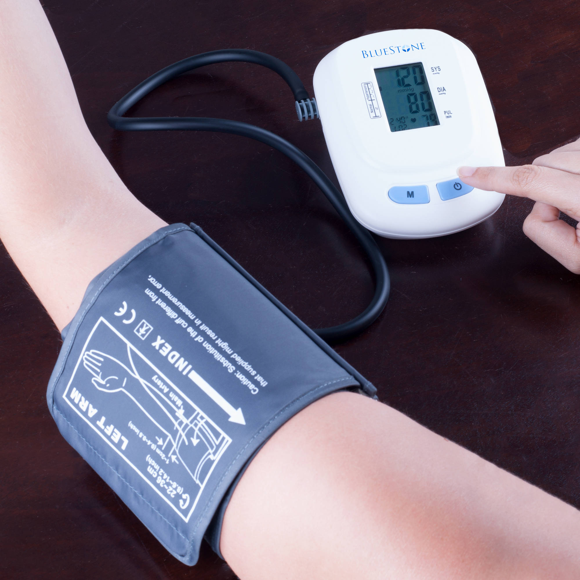 Bluestone Automatic Upper Arm Blood Pressure Monitor with 120 Memory