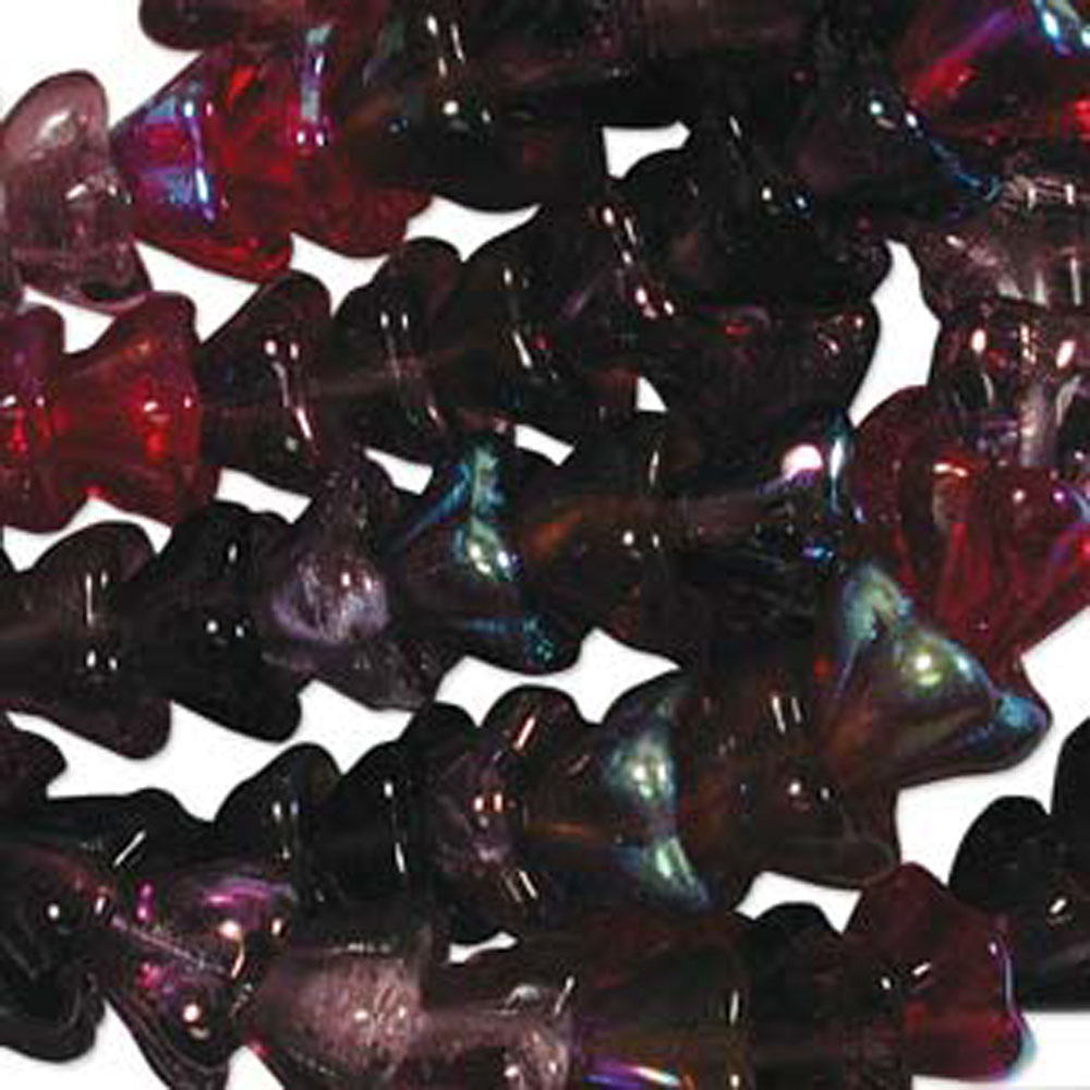 Vinyard Mix 10x13mm Flower Cone 45 Bead Cap Czech Glass, Loose Beads,