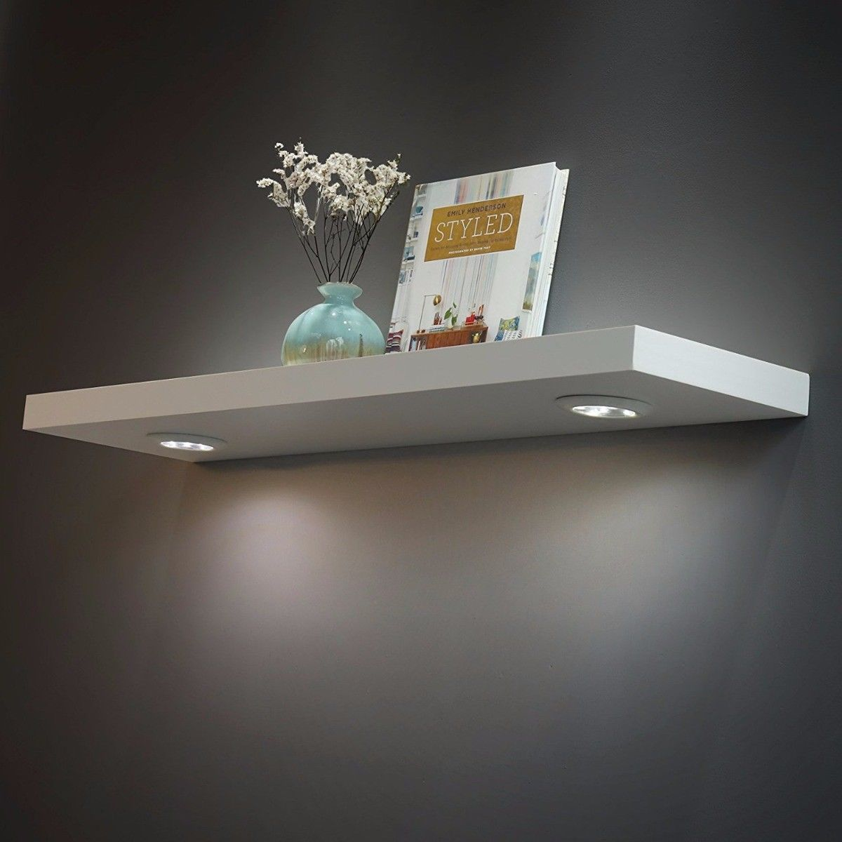 Floating Wall Shelf With Led Lights