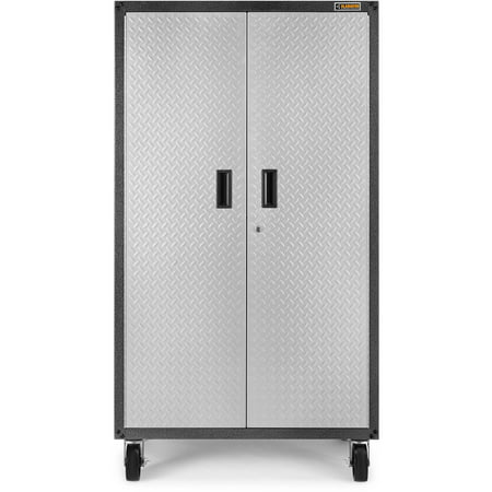 Gladiator Ready To Assemble Steel Rolling Garage Cabinet Silver Tread