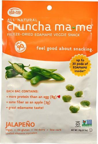 Eda-Zen Crunch Ma-me Freeze Dried Edamame Veggie Snack Jalapeno 0.7 Oz by Eda-Zen