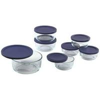 Pyrex 14-Piece Simply Store Round Glass Food Storage Set