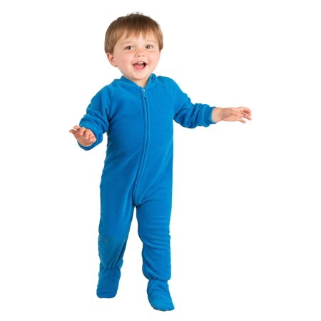 37b0c3a51 Footed Pajamas - Footed Pajamas - Royal Blue Infant Fleece Onesie -  Walmart.com