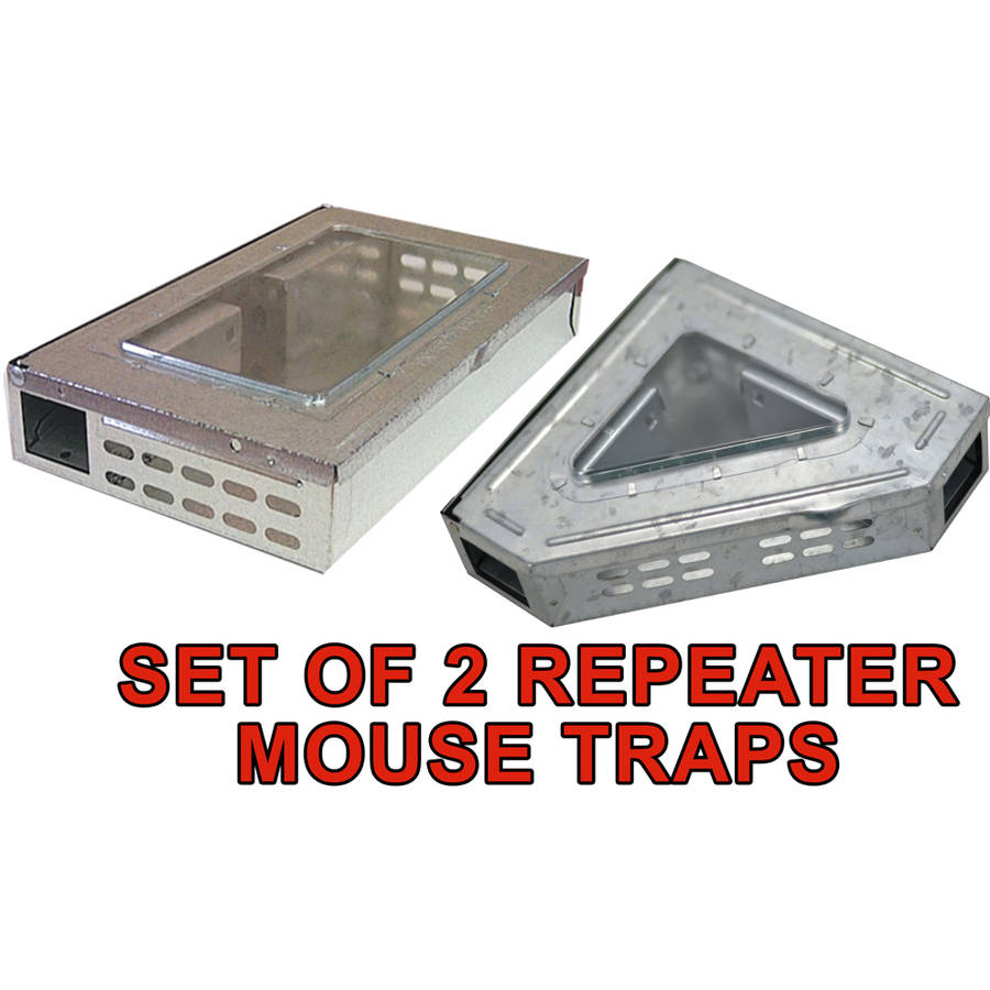 New Victor Tin Cat Clear Window Multiple Mouse Humane No Touch Trap and Release