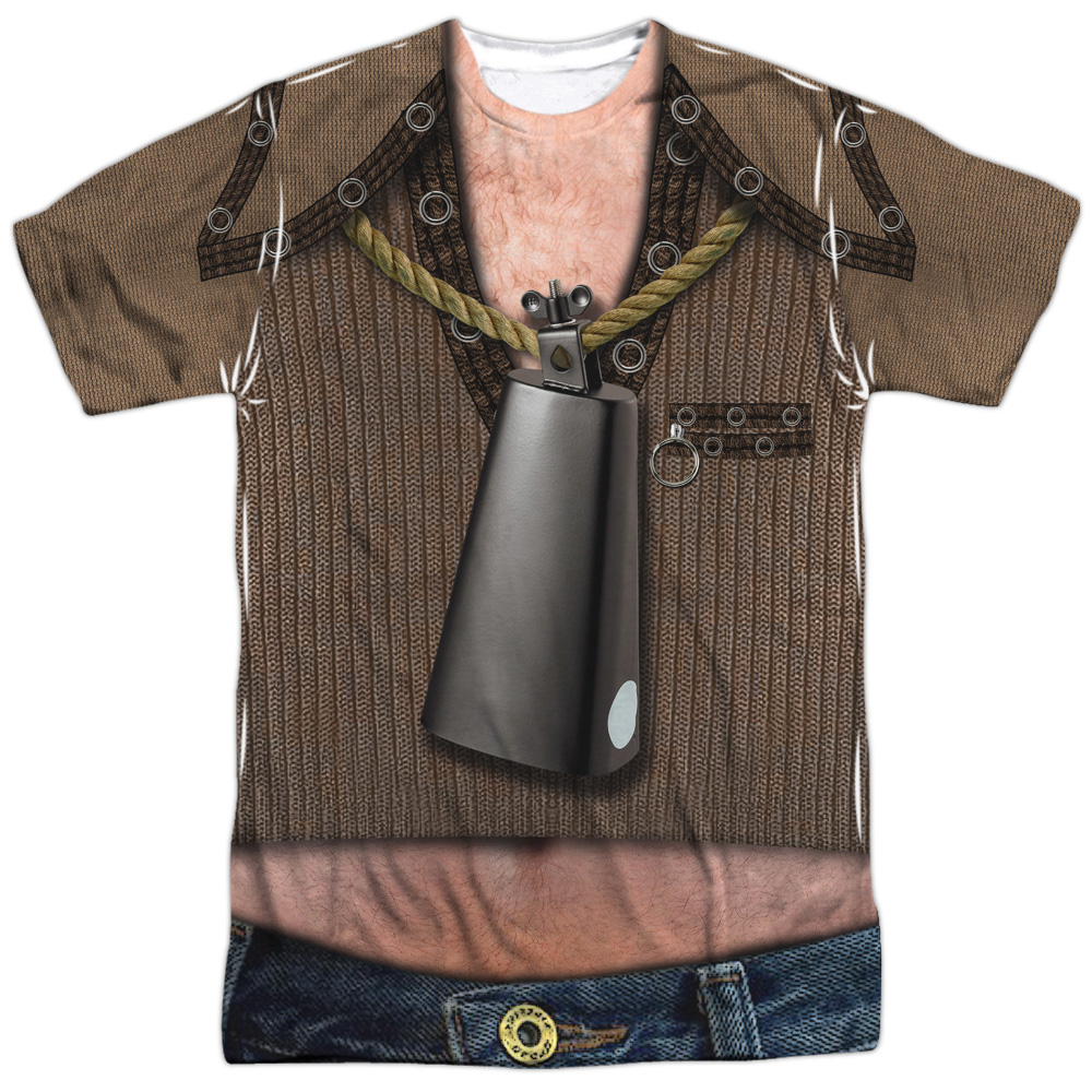 Saturday Night Live SNL Cowbell Costume Mens Sublimation Shirt