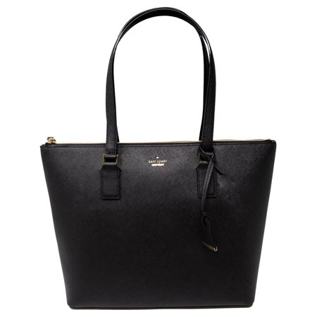 Kate Spade Black Leather (Kate Spade Women's Cameron Street Lucie Leather Shoulder Bag Tote - Black)