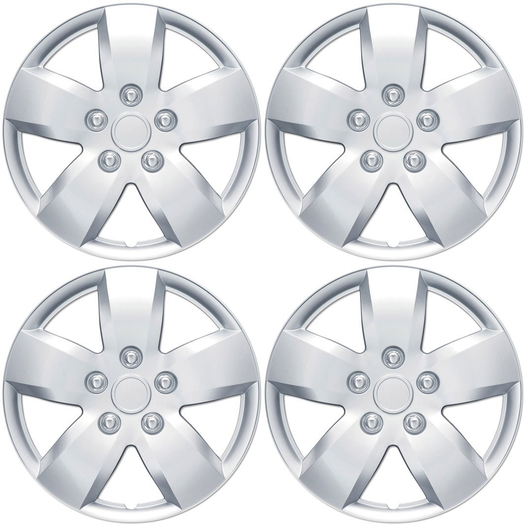 "Nissan Altima Hubcaps Wheel Cover, 16"" Silver Replica Cover, OEM Factory Replacement (4 Pieces), Original Equipment (OE) design replica of Nissan Altima By BDK"
