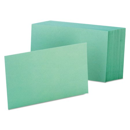 Unruled Index Cards, 4 x 6, Green, 100/Pack ()