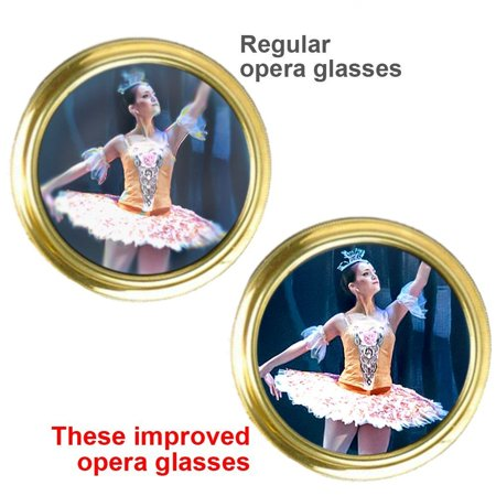 HQRP Opera Glasses Rose / Pink-pearl with Gold Trim w/ Crystal Clear Optic (CCO), Reading Light, Extendable Handle - image 7 of 7