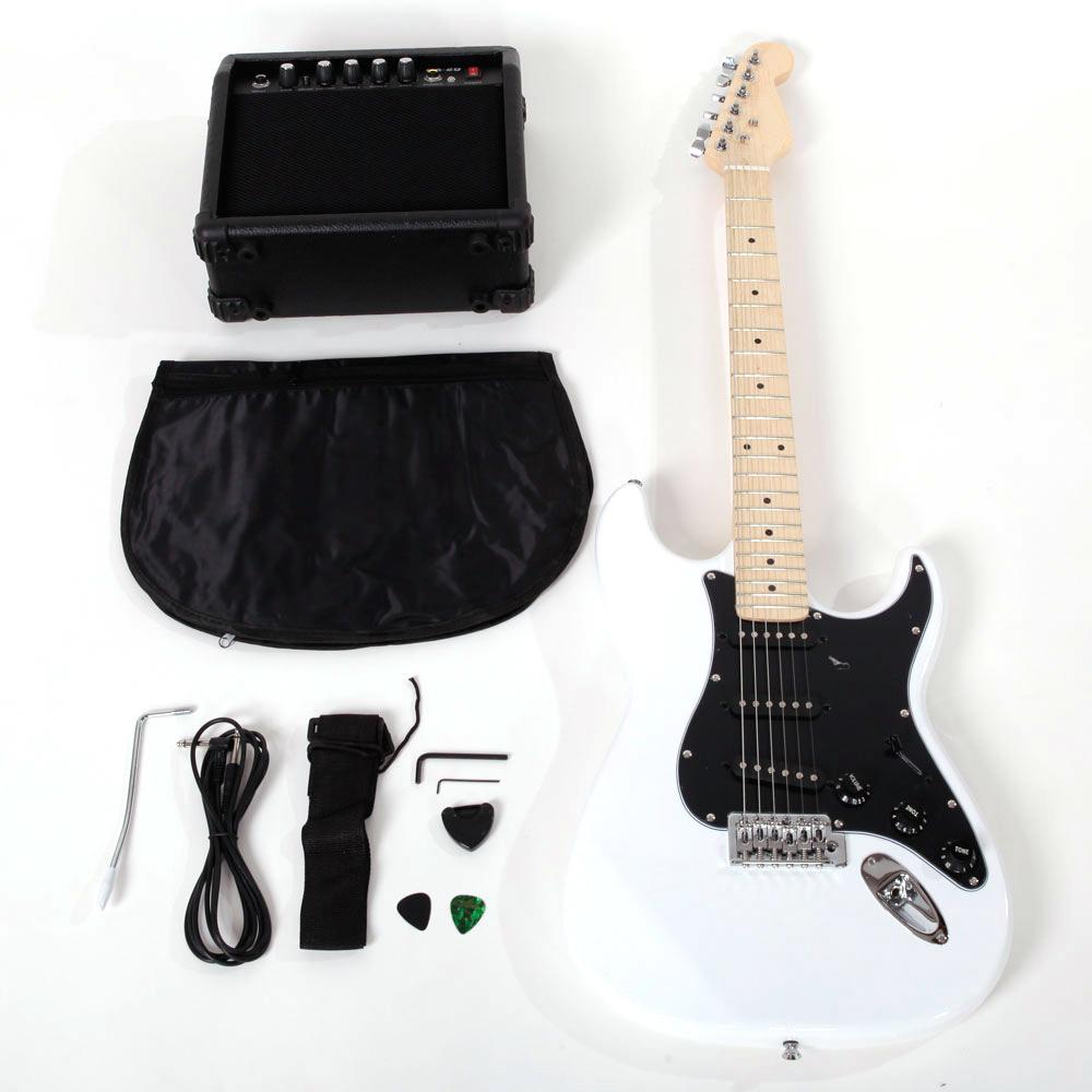 Ktaxon School 15w AMP ST Burning Fire Electric Guitar with Black Fender