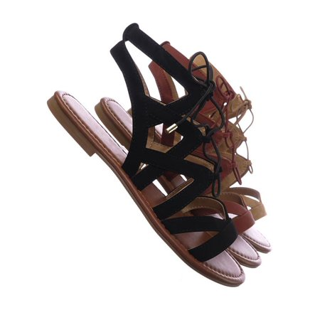 Roman Sandals Halloween - Convoy by City Classified, Roman Gladiator Strappy Elastic Lace Up Cutout Sandals, Women Shoes