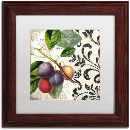 "Trademark Fine Art ""Les Fruits Jardin III"" Canvas Art by Color Bakery White Matte, Wood Frame"