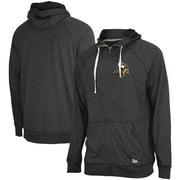 Minnesota Vikings New Era In Season Hoodie Full-Zip Jacket - Heathered Black