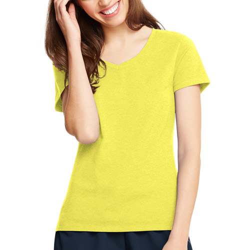 Hanes Women's Plus-Size X-temp Short Sleeve V-neck