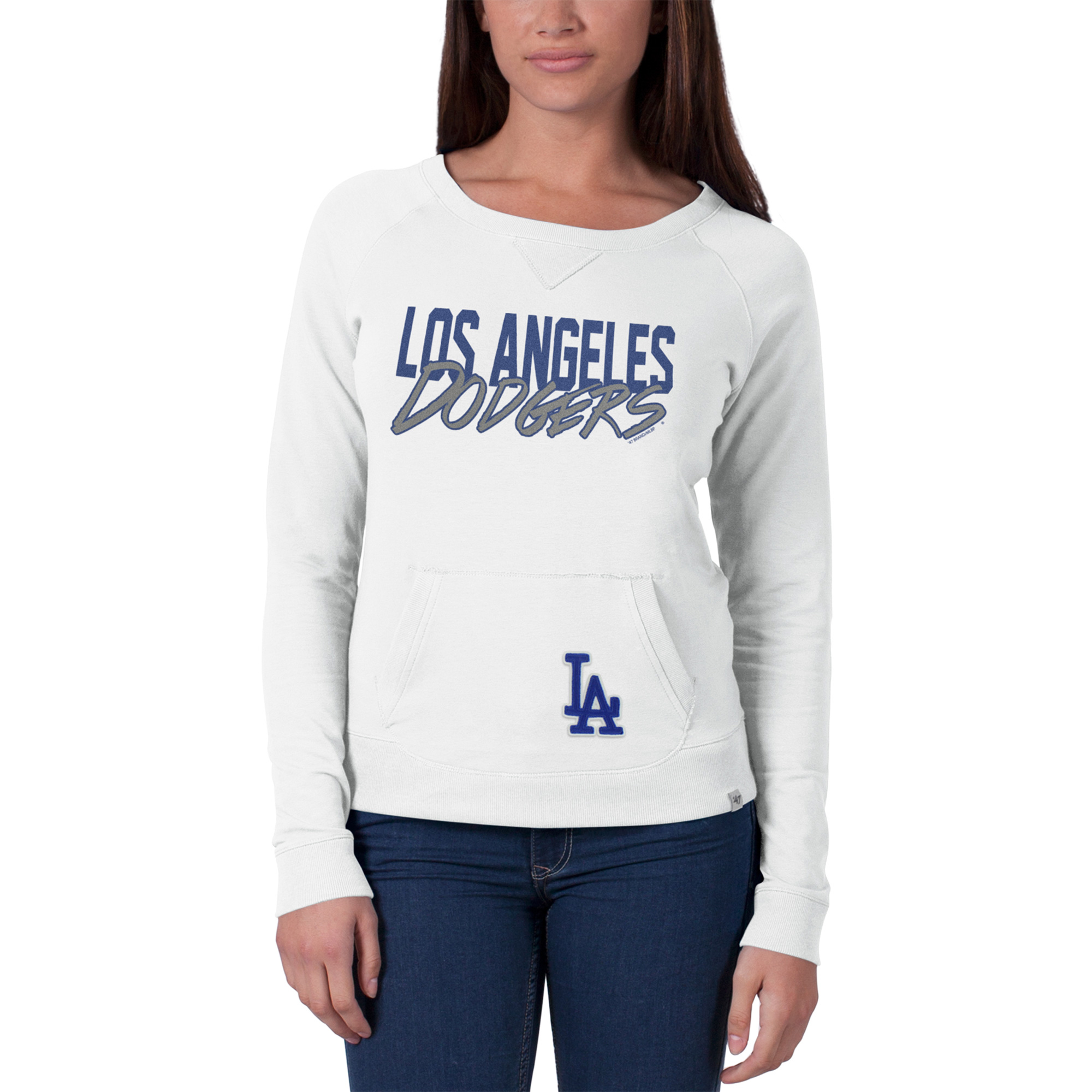 Los Angeles Dodgers '47 Women's Gameday Crew Neck Sweater - White