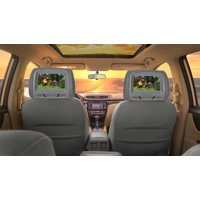 """Pair Rockville RHP7-GR 7"""" Grey Plug N Play Car Headrest Monitors w/ Speakers+IR"""