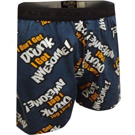 I Don't Get Drunk I Get Awesome Boxer Shorts (Cloudveil Run Dont Walk Boxer)