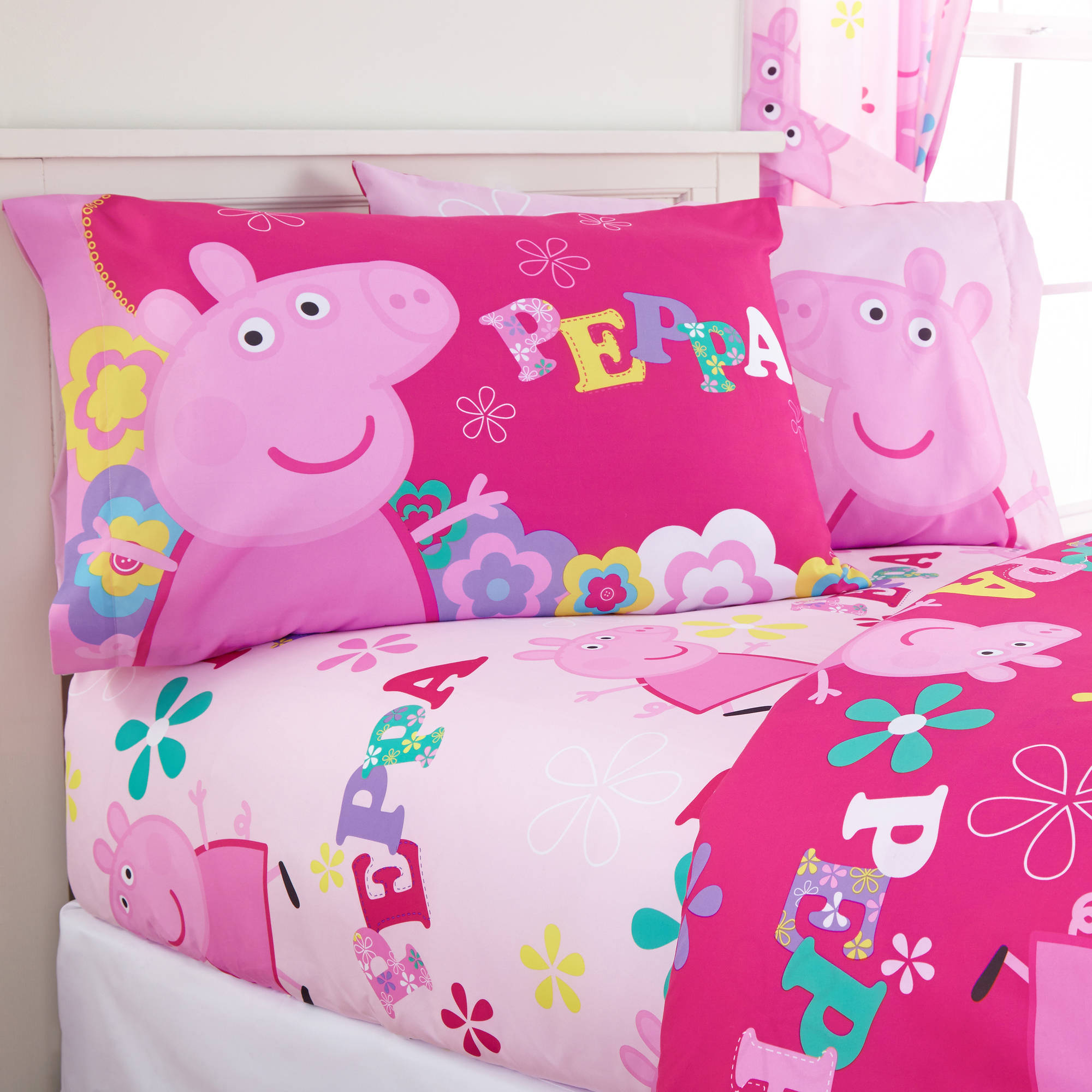 "Peppa Pig ""Tweet Tweet Oink"" Sheet Set"