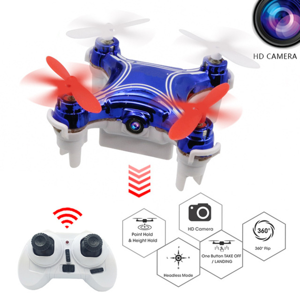 Multi-colors Professional RC Quadcopter Drone with 2MP Wide Angle Camera High Hold Mode RC Aircraft Gifts Toys