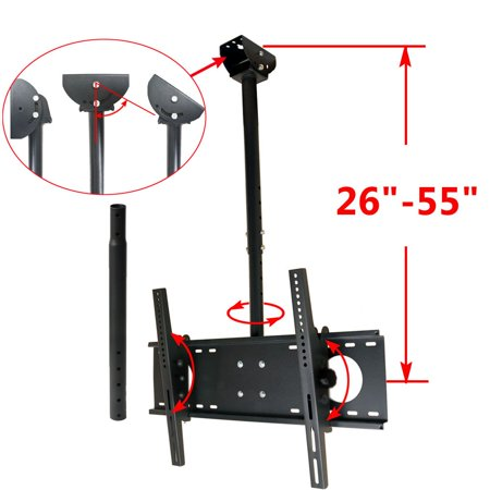 VideoSecu Tilt Swivel TV Ceiling Mount for most 39-65″ LCD LED Plasma Some LED 70″ Fits Flat or Vaulted Ceiling BWD