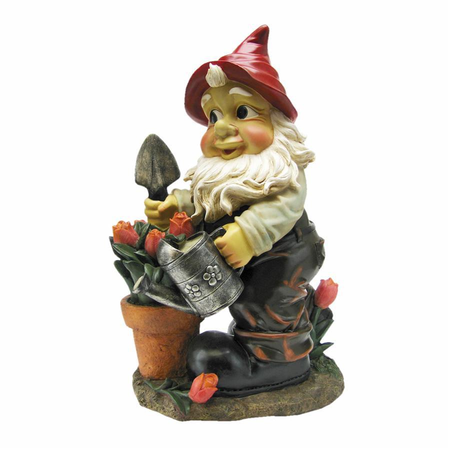 Gustav, the Gardening Gnome Statue by Design Toscano