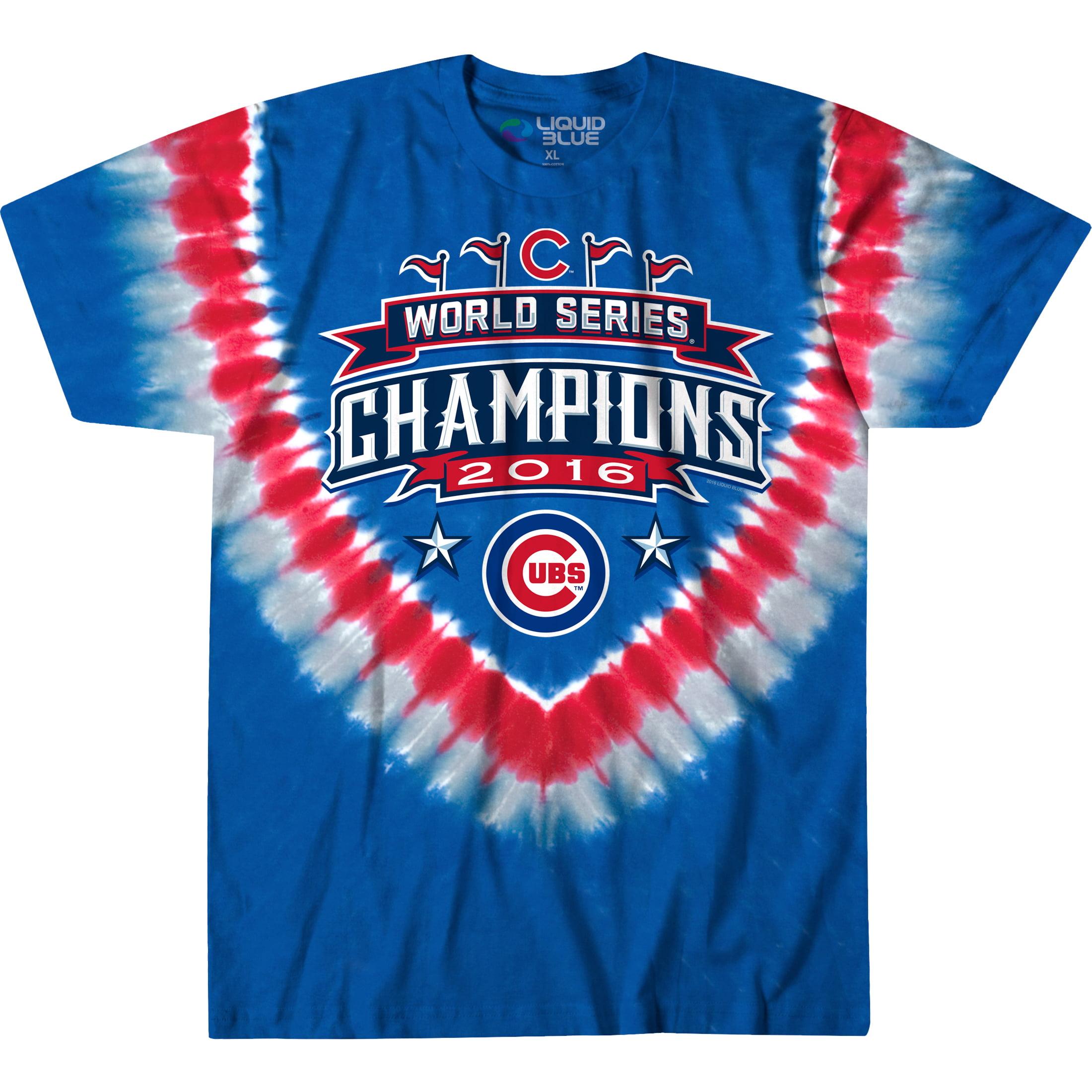 Men's Multi Chicago Cubs 2016 World Series Champions Tie-Dye T-Shirt