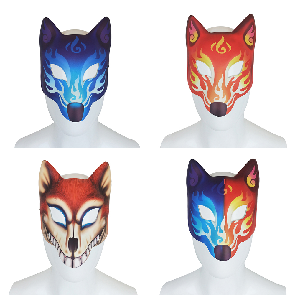 FOX MASK by MASKELLE Masks Comfortable Affordable Stylish for Men or Women adult size Halloween masquerade costume dog wolf animal