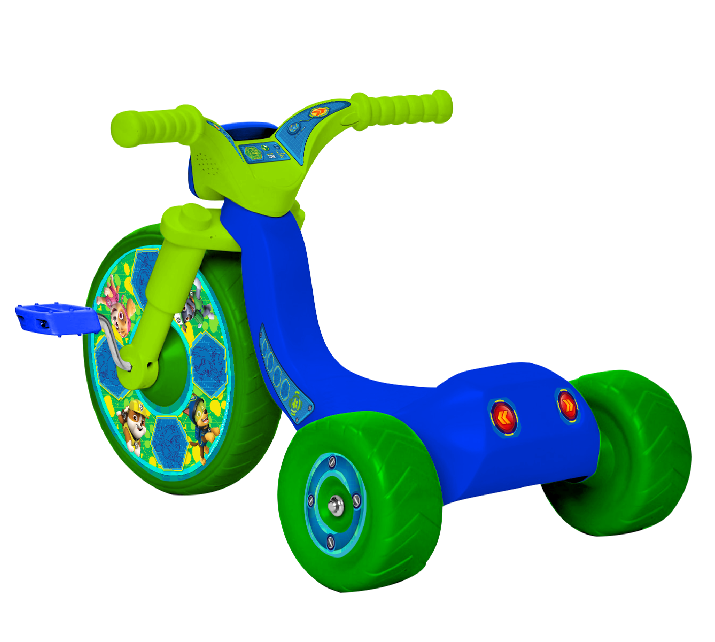 Paw Patrol Code Paw 10 Fly Wheels Junior Cruiser Trike Vibrant Character Graphics Large 10 Inch Front Wheel Includes 2 Push Buttons On Handle For Sounds Age Grade 2 4 Years Walmart Com Walmart Com