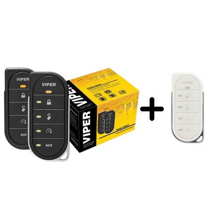 1 Mile Range Waterproof Transmitter (Viper 4806v w/ 87856VW2-Way LED Remote Start System including Transmitter w/ 1 Mile Range & White Transmitter)