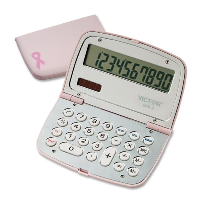 Victor Technologies 9099 909-9 Limited Edition Pink Compact Calculator, 10-Digit LCD