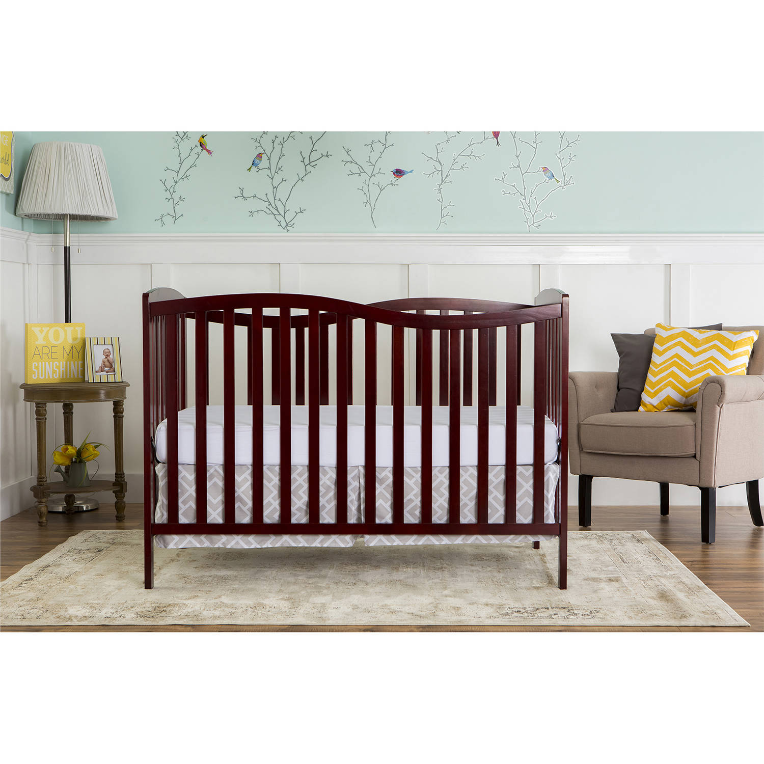 Dream On Me Chelsea 5-in-1 Convertible Crib, Cherry