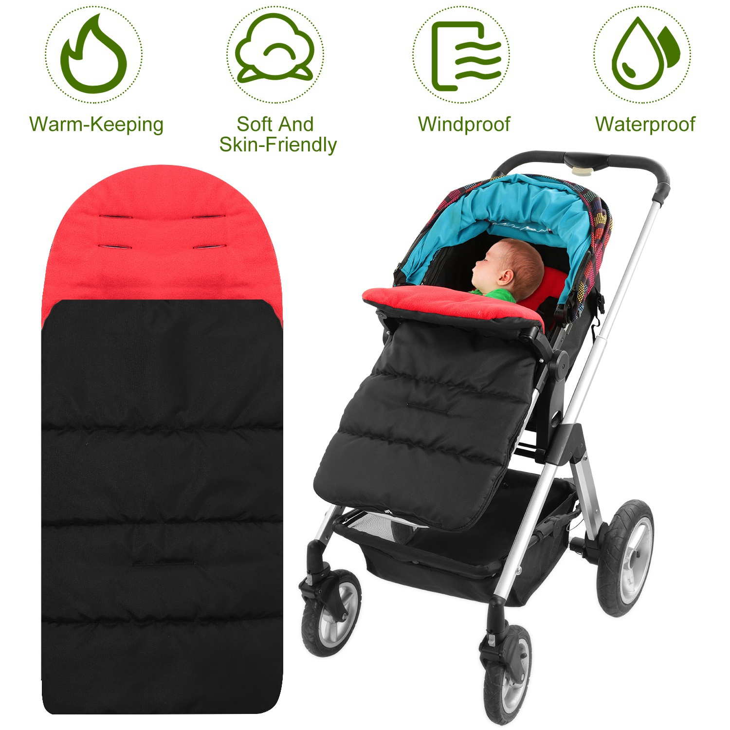 Winter Warm Baby Stroller Foot Muff Buggy Pushchair Pram Foot Cover Windproof